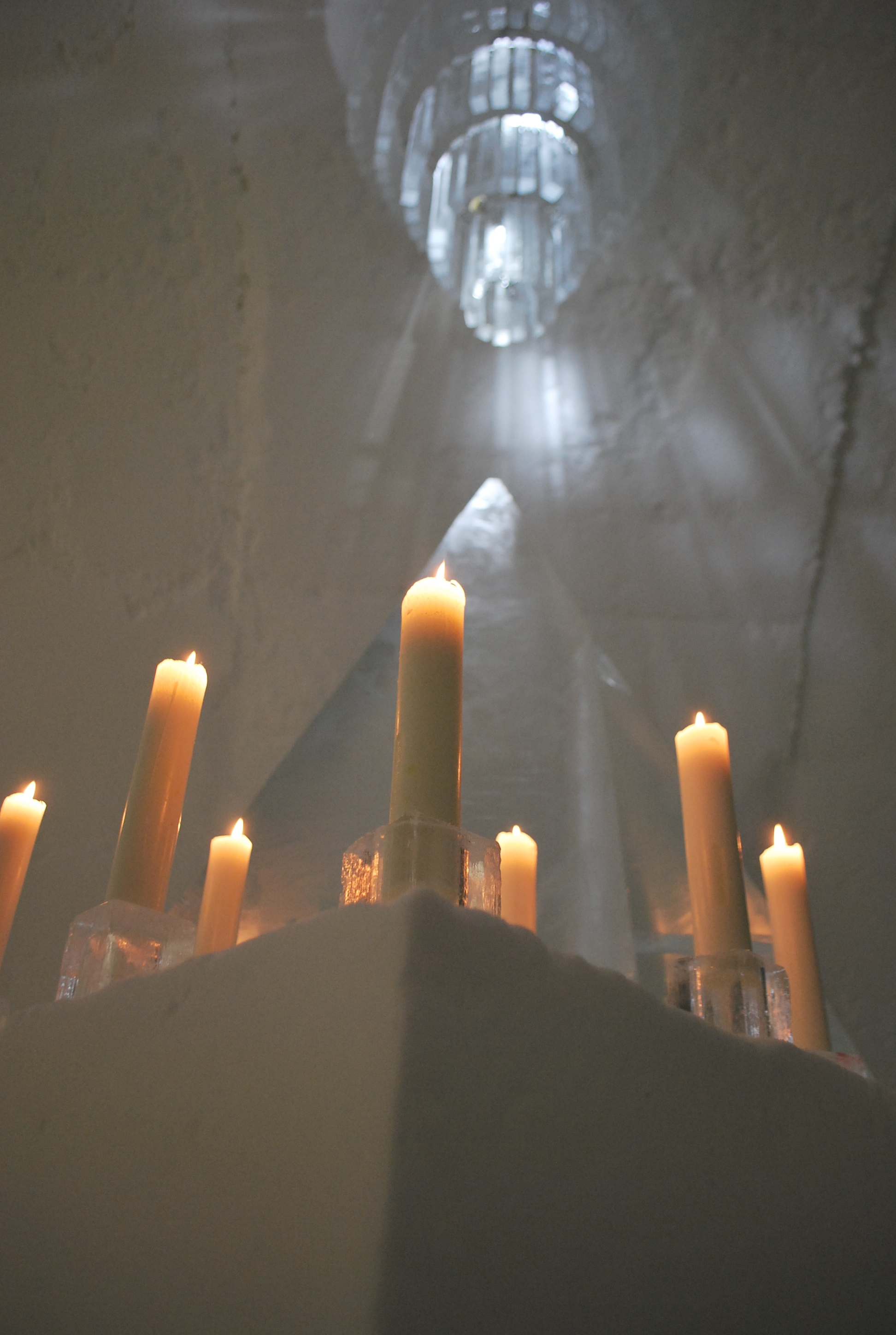 Icehotel, candles