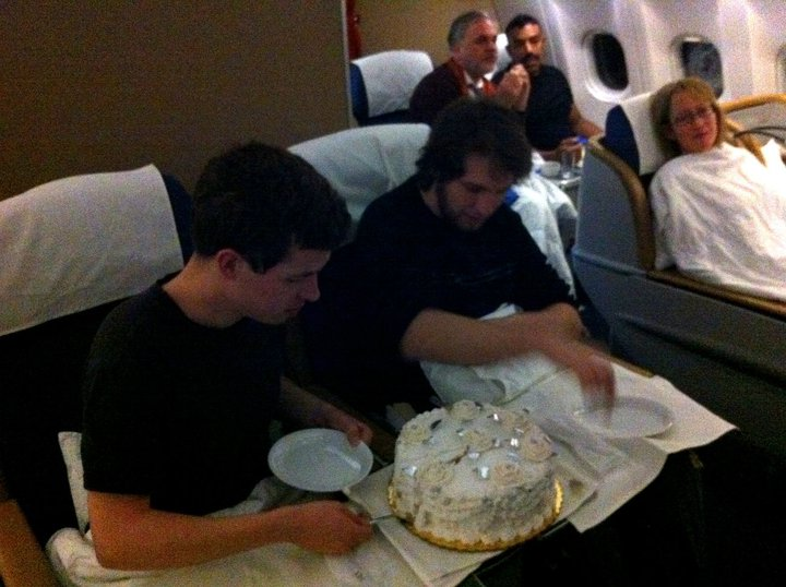 Thomas and Brett, cake